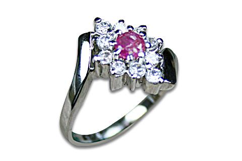 Design 8980: pink,white ruby flower rings