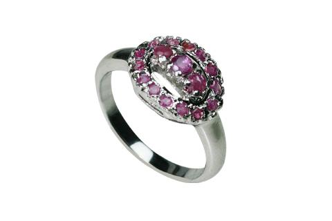 Design 8983: pink ruby rings