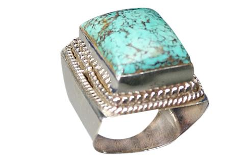 Design 9035: blue,green turquoise art-deco rings