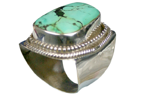 Design 9044: green turquoise american-southwest rings