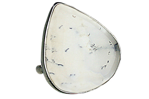 Design 9111: gray,multi-color dendrite opal rings