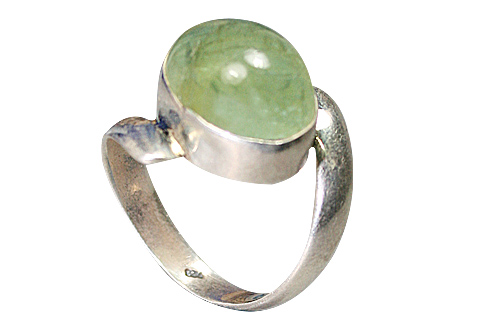 Design 9166: green fluorite rings