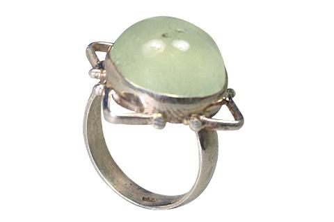 Design 9170: Green prehnite rings