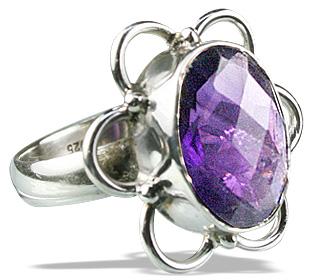 Design 9171: purple amethyst flower rings