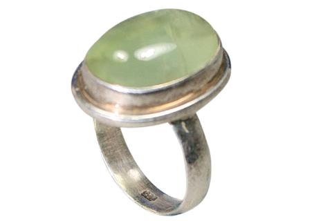 Design 9173: Green prehnite rings