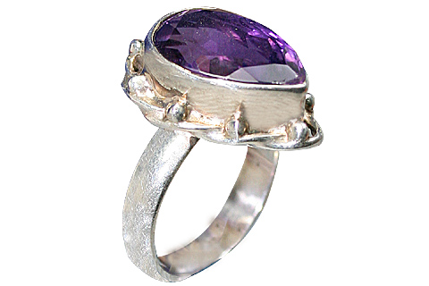 Design 9181: purple amethyst contemporary rings
