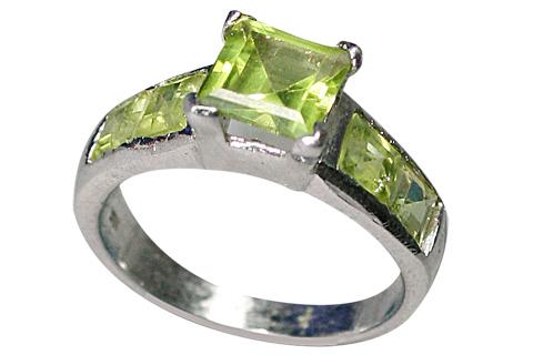 Design 9182: green peridot rings