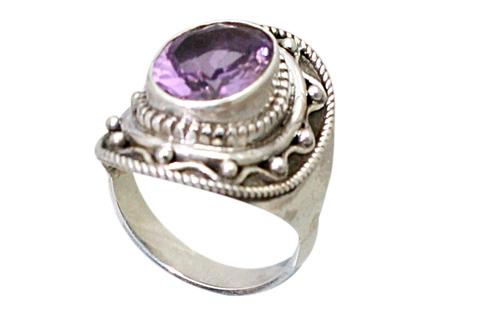 Design 9192: purple amethyst rings