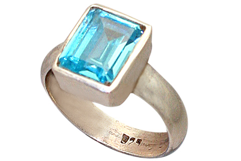 Design 9195: blue cubic zirconia rings