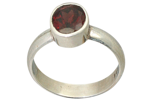 Design 9196: Red garnet rings