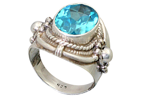 Design 9198: blue cubic zirconia estate, gothic-medieval rings