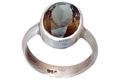 Design 9201: brown smoky quartz rings