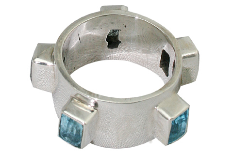 Design 9449: blue blue topaz mens rings