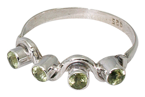 Design 9512: green peridot rings