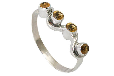 Design 9513: yellow citrine contemporary rings
