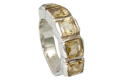 Design 9516: yellow citrine art-deco rings