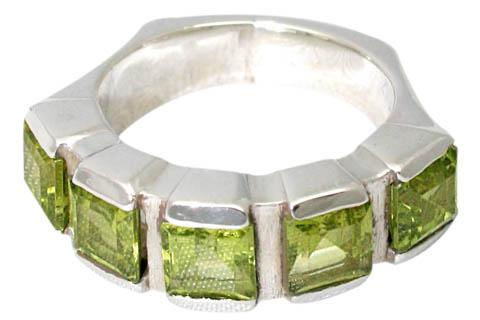 Design 9517: green peridot rings