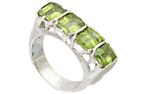 Design 9519: green peridot rings