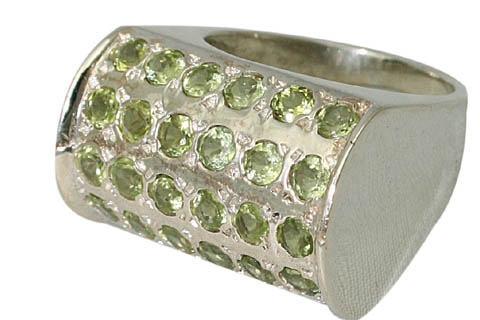 Design 9522: green peridot rings