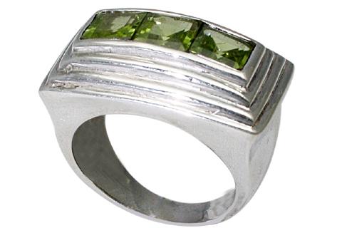Design 9523: green peridot rings