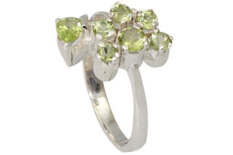Design 9526: green peridot rings