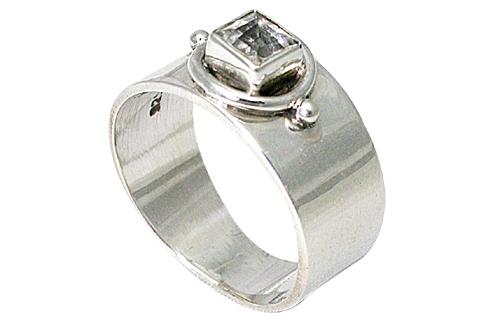 Design 9563: white crystal rings