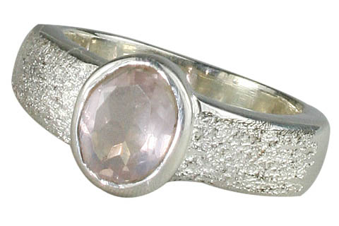 Design 9973: pink rose quartz rings