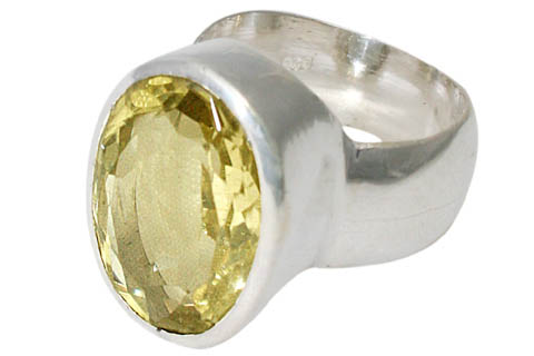 Design 9976: yellow lemon quartz mens rings