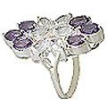 Design 10022: purple,white amethyst flower rings