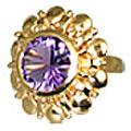 Design 11018: purple amethyst brides-maids rings