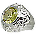 Design 11065: green lemon quartz engagement, mens, solitaire rings