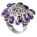 Design 12158: purple amethyst flower rings