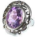Design 13347: purple amethyst cocktail rings