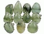 Design 14053: green prehnite rings