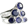 Design 14251: blue iolite cocktail rings