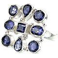 Design 14354: blue iolite rings