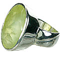Design 14489: green prehnite mens rings