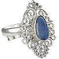 Design 15218: blue,multi-color opal flower rings