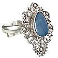 Design 15223: blue,multi-color opal flower rings