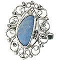 Design 15228: blue,multi-color opal adjustable rings