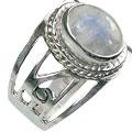 Design 15608: gray,white moonstone cocktail rings