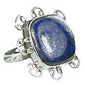 Design 15959: blue lapis lazuli cocktail rings