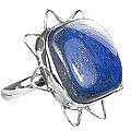 Design 15964: blue lapis lazuli contemporary rings