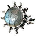 Design 15990: black,blue labradorite vintage rings