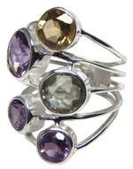 Design 20321: Purple, Yellow, Citrine amethyst rings