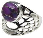 Design 20323: Purple turquoise rings