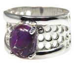 Design 20328: Purple turquoise rings