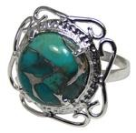 Design 20332: Blue turquoise rings