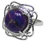 Design 20333: Purple turquoise rings