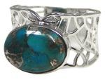 Design 20337: Blue turquoise rings